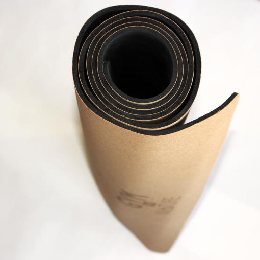 Gym by Nature - Grand tapis 5 mm d'épaisseur enroulé en liège naturel et caoutchouc naturel - yoga pilates gym méditation