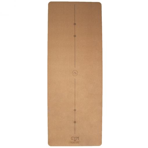 Gym by Nature - Grand tapis 5 mm d'épaisseur en liège naturel et caoutchouc naturel - yoga pilates gym méditation fitness