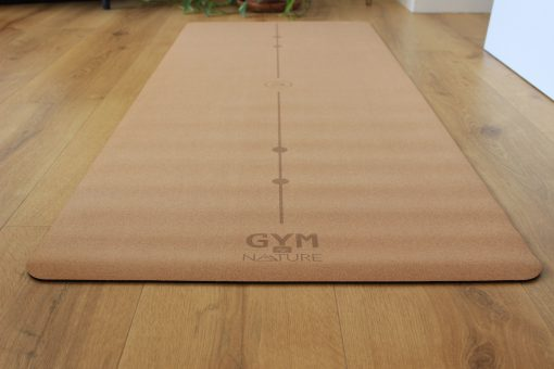 Gym by Nature - Grand tapis 5 mm d'épaisseur en liège naturel et caoutchouc naturel - yoga pilates gym méditation