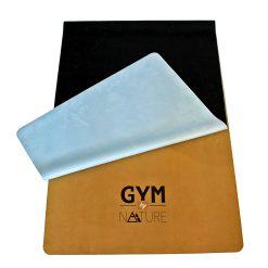 Gym by Nature - tapis de yoga écologique en caoutchouc naturel et suède recyclé ép. 1mm - dégradé ciel et terre - plié face